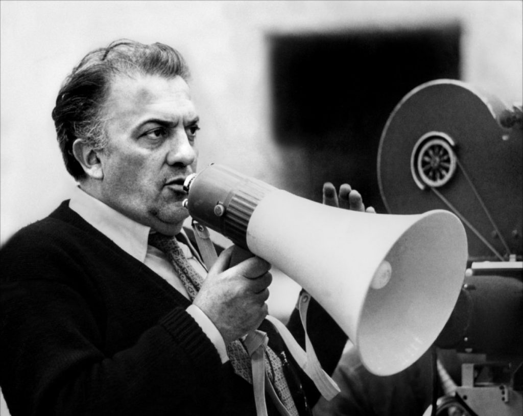 O diretor Federico Fellini
