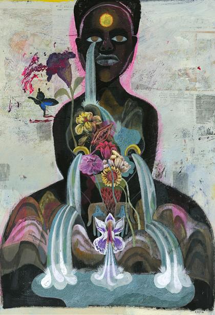 """Mother Nature"", Acrylic on paper, 2010, 50cm x 70cm, Direktorenhaus Berlin 2010"